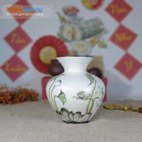 Lọ hoa gốm quà tặng in logo giá rẻ BHG-16