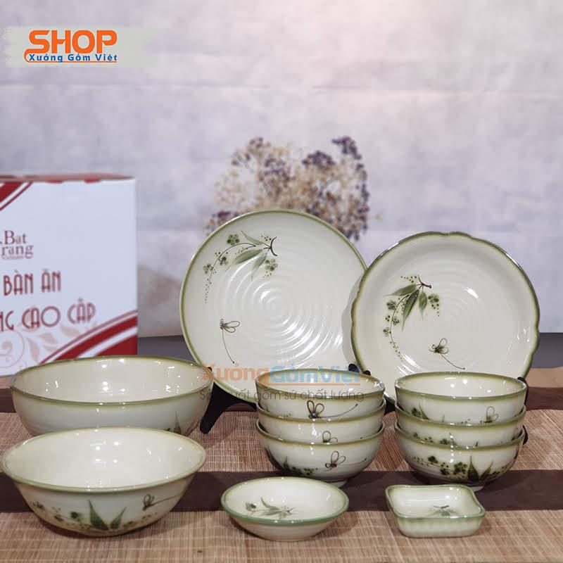 Bộ bát đĩa gốm sứ cao cấp giá rẻ BD12-06
