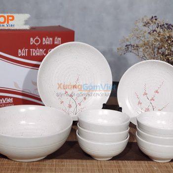 Bộ bát đĩa sứ bàn ăn nhà hàng đẹp BD9-05