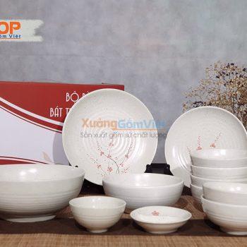 Bộ bát đĩa nhà hàng gốm sứ giá rẻ BD12-05