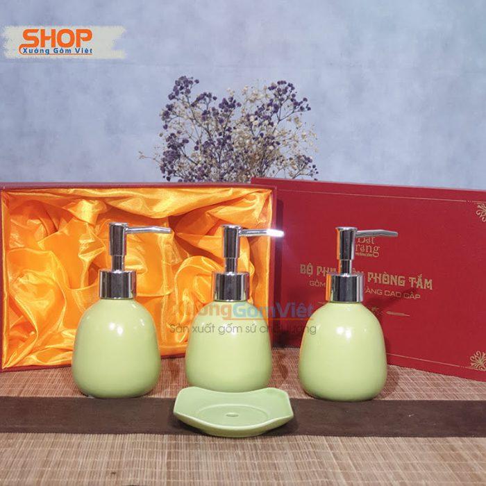 Bình sứ đẹp chứa sữa tắm cao cấp PKNT-90