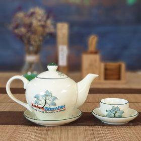 Bộ trà in logo quà tặng hoa sen ATV-14