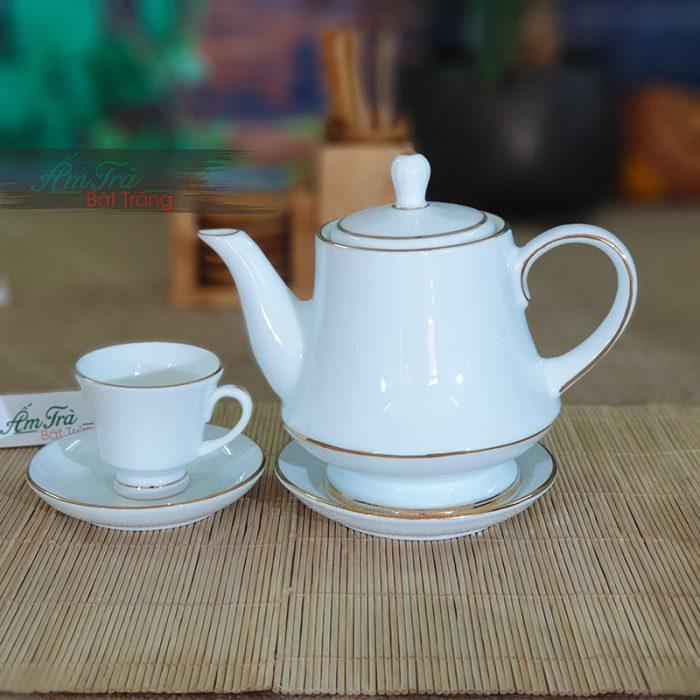 bộ trà sứ trắng AT-11