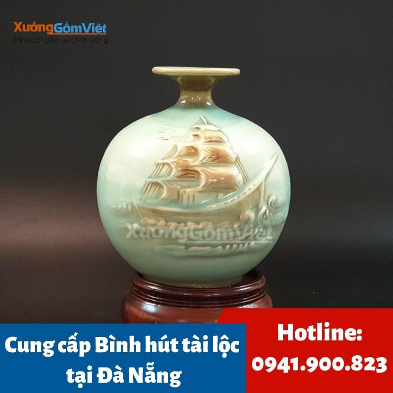 Bình hút tài lộc gốm sứ tại Đà Nẵng