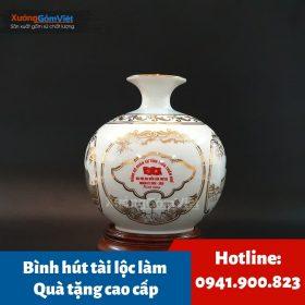 Cung cấp bình hút tài lộc Bát Tràng làm quà tặng cao cấp cho doanh nghiệp
