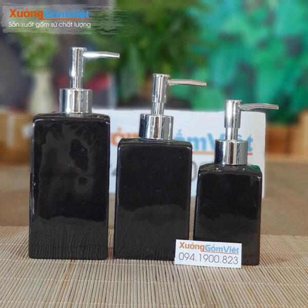 Bộ phụ kiện nhà tắm 5 món sứ đen PKNT-79