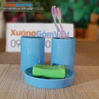 Combo đồ dùng nhà tắm sứ 4 món PKNT-85