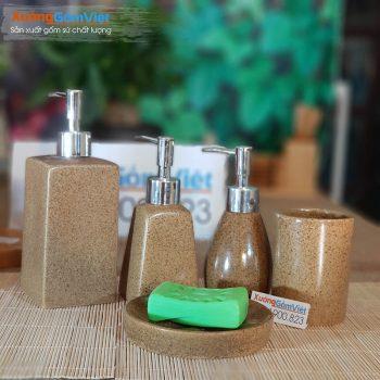 Combo 5 món đồ dùng nhà tắm sứ PKNT-82