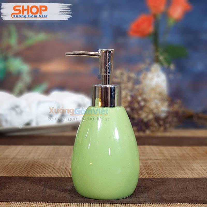 Chai sứ đựng sữa tắm cho khách sạn PKNT-74