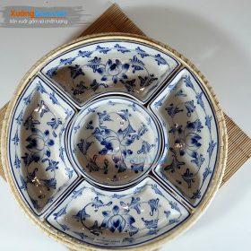 Khay đựng bánh kẹo Tết Bát Tràng KMS-17