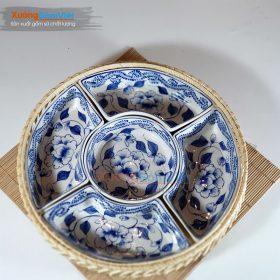Khay đựng bánh kẹo sứ Bát Tràng KMS-13