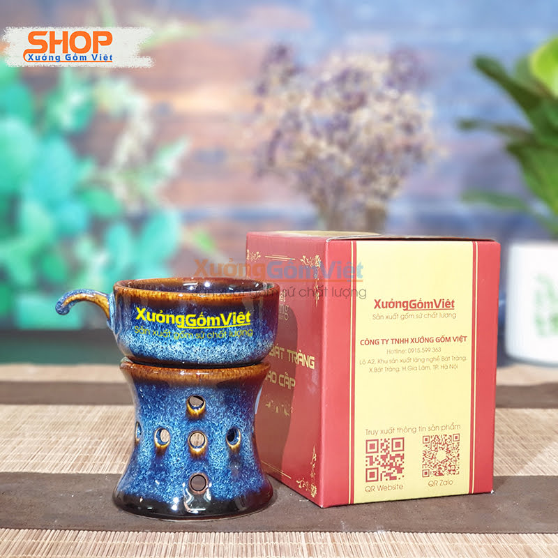Bộ tách cà phê sứ và chân lò CSM-M74