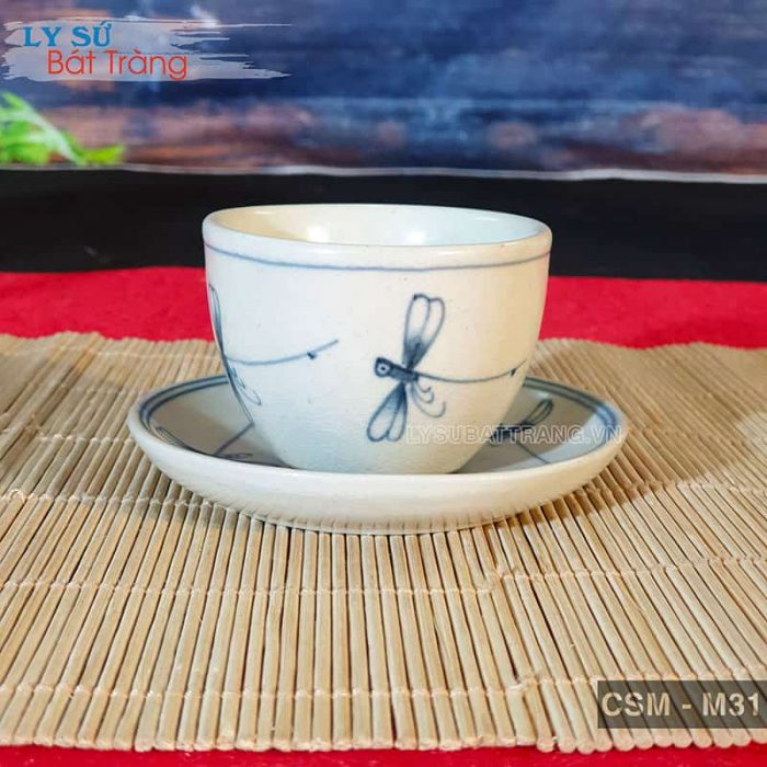Tách trà sứ không quai giả cổ CSM-M31