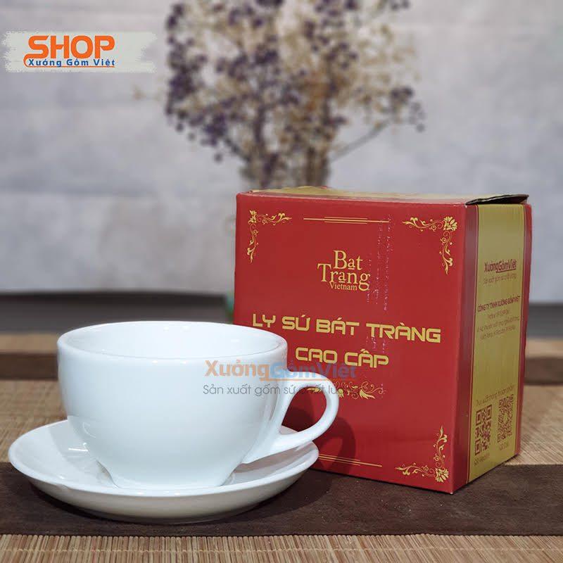 Cốc Cappuccino sứ trắng đẹp CST-M42