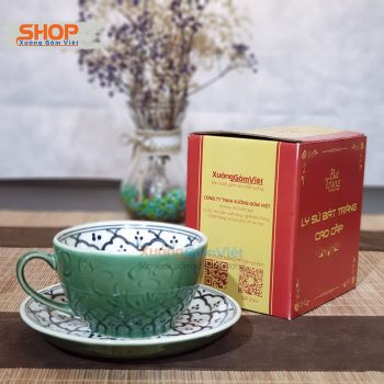 Bộ tách Cappuccino và đĩa lót CSM-M68
