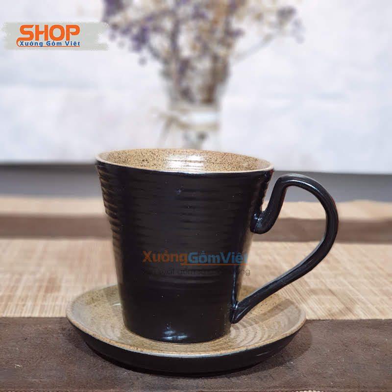 Ly uống trà lipton, thìa và đĩa CSM-M64