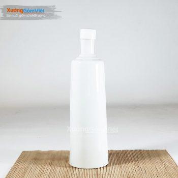 Bình đựng rượu sứ trắng NR-11