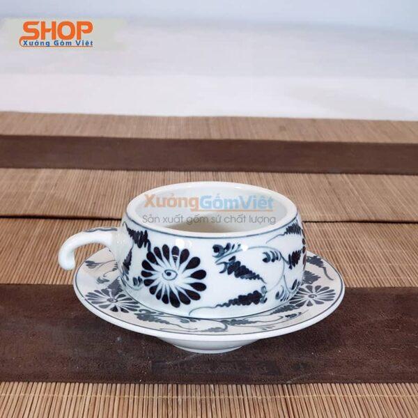 Phin coffe gốm sứ Bát Tràng đẹp CSM-M72