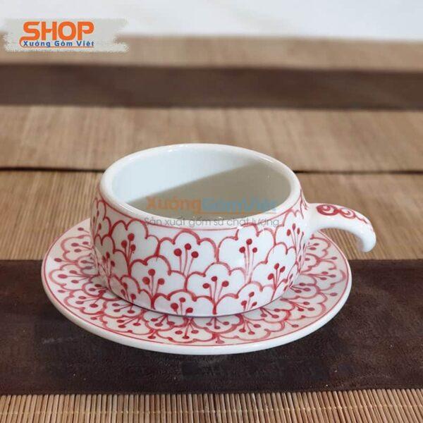 Bộ phin cà phê sứ Bát Tràng đẹp CSM-M71