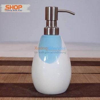 Chai đựng dầu gội sữa tắm sứ đẹp PKNT-94
