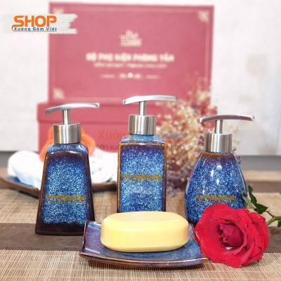 Combo 4 món phụ kiện nhà tắm đẹp PKNT-64