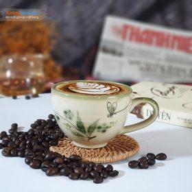 Cốc cappuccino sứ vẽ tay đẹp CSM-M34