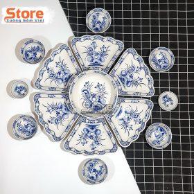 Set bát đĩa bàn ăn sứ kiểu hoa mặt trời