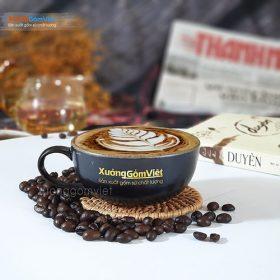 Ly Cappuccino sứ to và đĩa lót CSM-M69
